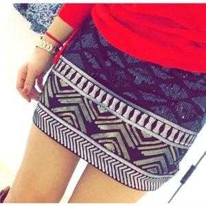 Express Sequin Tribal Skirt